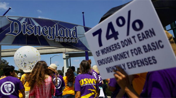 Disneyland Resort Hotel Workers Approve a New Contract with a $15-An-Hour Minimum Wage