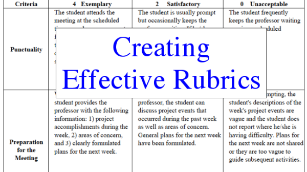 Creating a Rubric: Tutorial