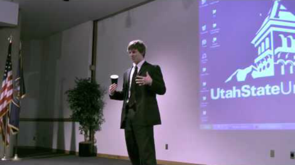 Coffee Cup Elevator Pitch at Utah State