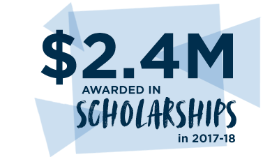 $2.4M Awarded in Scholarship in 2017-18