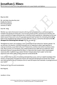 Sample of an Experienced Professional Cover Letter